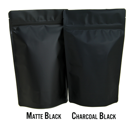 Matte Black Coffee Bag
