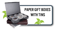 Paper Gift Boxes with Tins