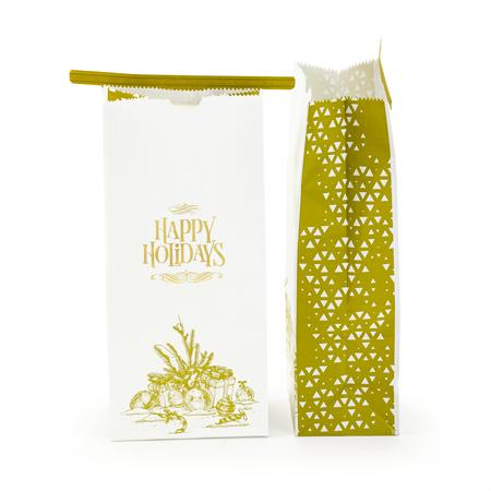 Sav On Bags >> 16 Oz Holiday Paper Tin Tie Bag