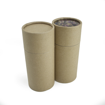 Lovely 5 oz Kraft Paper Canisters FC37