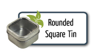 Rounded Square Tin with Window
