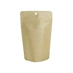 4 oz Kraft Stand Up Pouch with Hanging Hole