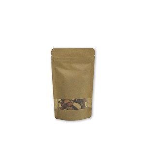2 oz Kraft Stand Up Pouch with Rectangle Window