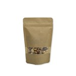 4 oz Biodegradable Kraft Stand Up Pouch with Rectangle Window
