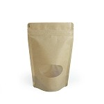 3 oz Kraft Stand Up Pouch with Oval Window