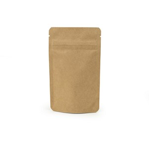 1 oz Biodegradable Kraft Stand Up Pouch