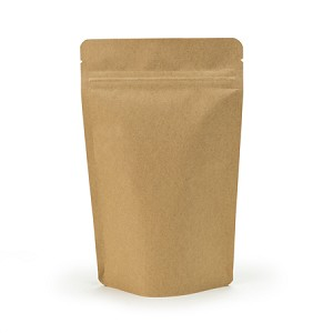 4 oz Biodegradable Kraft Stand Up Pouch