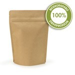5 oz Biodegradable Kraft Stand Up Pouch