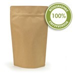 16 oz Biodegradable Natural Kraft Stand Up Pouch