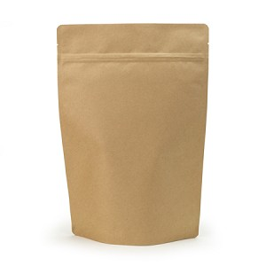 2 lb Biodegradable Kraft Stand Up Pouch