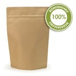 5 lb Biodegradable Kraft Stand Up Pouch