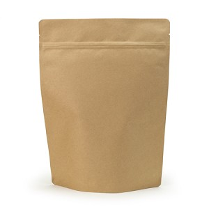 4 lb Biodegradable Kraft Stand Up Pouch