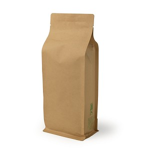 16 oz Biodegradable Kraft Box Pouch