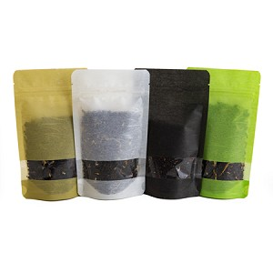 2 oz Rice Paper Stand Up Pouch with Rectangle Window