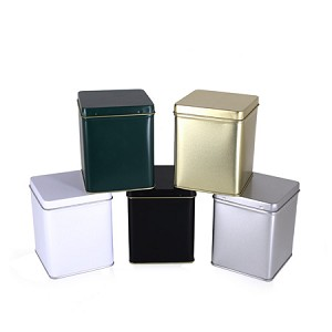 4 oz Square Tin (with Hinge)