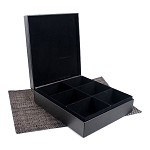 6 Slot Leather Display Box for Tea Sachets