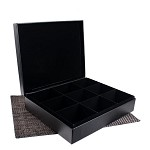 9 Slot Leather Display Box for Tea Sachets