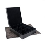 9 Slot Leather Display Box for Tea Bags