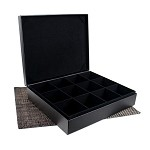 12 Slot Leather Display Box for Tea Bags