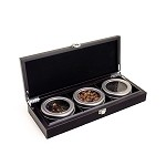 3 Slot Wooden Display Box - Espresso