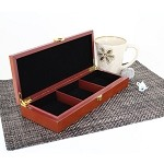 3 Slot Wooden Display Box - Cherry