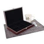 6 Slot Wooden Display Box - Chocolate