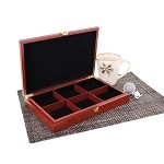 6 Slot Wooden Display Box - Cherry
