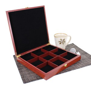 9 Slot Wooden Display Box - Cherry