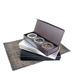 Paper Gift Box Set with 3 Tins