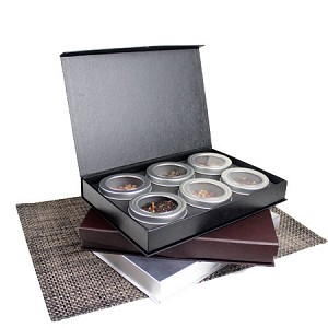 Paper Gift Box Set with 6 Tins