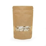 1 oz Kraft Stand Up Pouch with Rectangle Window