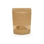 3 oz Kraft Stand Up Pouch with Rectangle Window