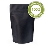 4 oz Biodegradable Matte Black Stand Up Pouch