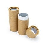 2 oz Kraft Paper Canisters with Window