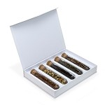 Paper Gift Box Set with 5 Glass Display Tubes