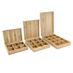 12 slot Bamboo Box for Tea Bags